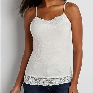 Maurices White Crinkle Camisole
